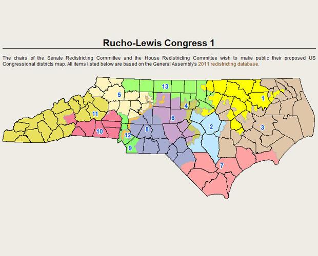 North Carolina congressionaL district map