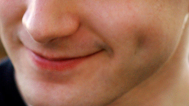 dimple, cheek, closeup, face