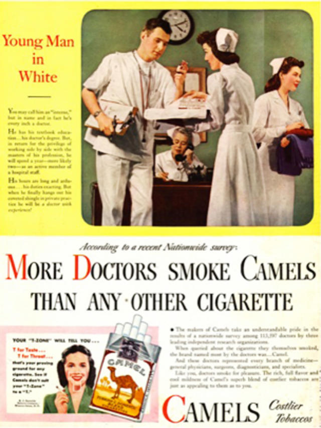 Blowing Smoke Vintage Ads Of Doctors Endorsing Tobacco Cbs News