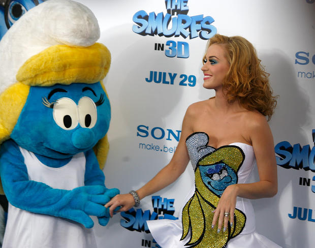 Katy Perry at the premiere of 'The Smurfs' on July 24, 2011, in New York.