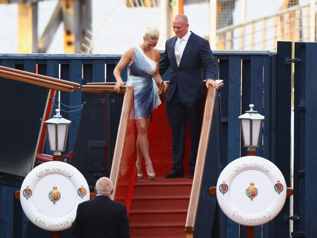 Zara Phillips and Mike Tindall's pre-wedding party