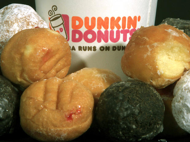 Dunkin' Donuts products are displayed July 27, 2011, in Montpelier, Vt.