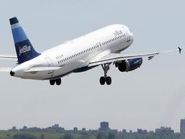 JetBlue plane takes off