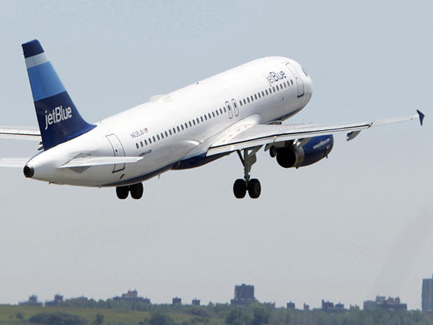 JetBlue plane takes off