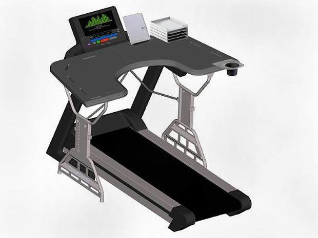 TrekDesk Treadmill Desk - 10 high-tech fat burners for fitness geeks -  Pictures - CBS News