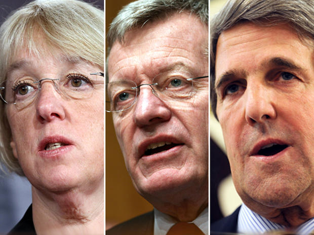 Sen. Patty Murray (D-Wash.) Sen. Max Baucus (D-Mont.) and John Kerry (D-Mass.)