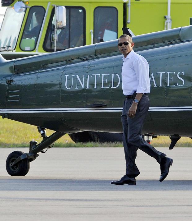 President Obama arrives at Martha's Vineyard.