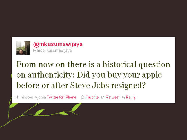 Twitter reacts to Steve Jobs' resignation