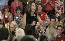 Bachmann jokes hurricane a message from God
