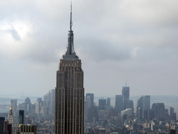 The New York City skyline from the Empire State Building