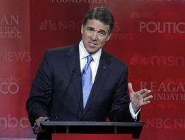 Rick Perry, GOP debate
