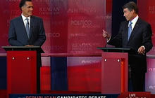 Romney, Perry spar on job creation