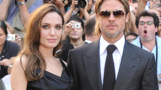 "Angelina, Brad play ""Moneyball"" at Toronto"