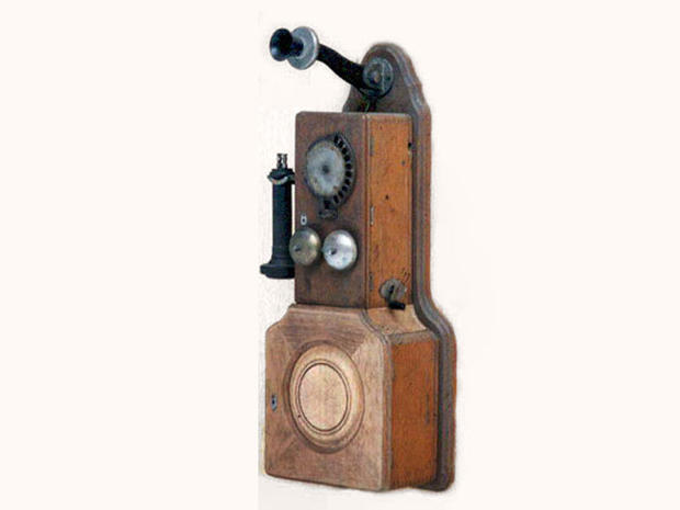 Strowger 10 Digit Automatic Wall Telephone - 1899