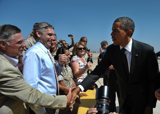 Obama on the campaign trail