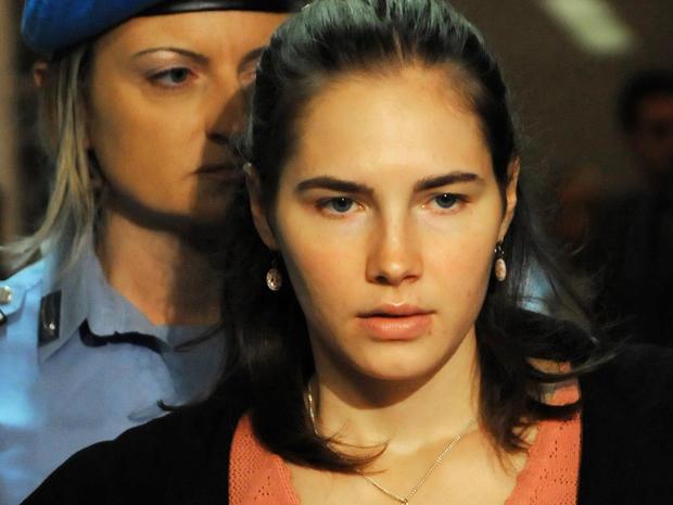 Amanda Knox seen in court