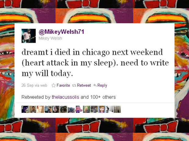 Weezer bassist Mikey Welsh may have predicted his death on Twitter and Facebook