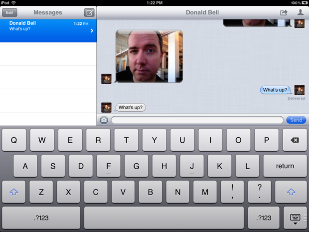 iMessages on the iPad