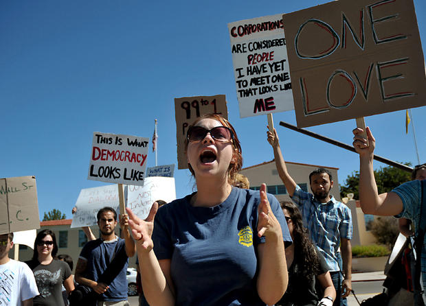 Occupy in red states/blue states