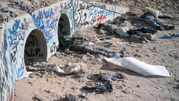 Bodies of suspected Moammar Gadhafi loyalists