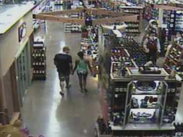 Surveillance video of John Needham and Jacque Villagomez