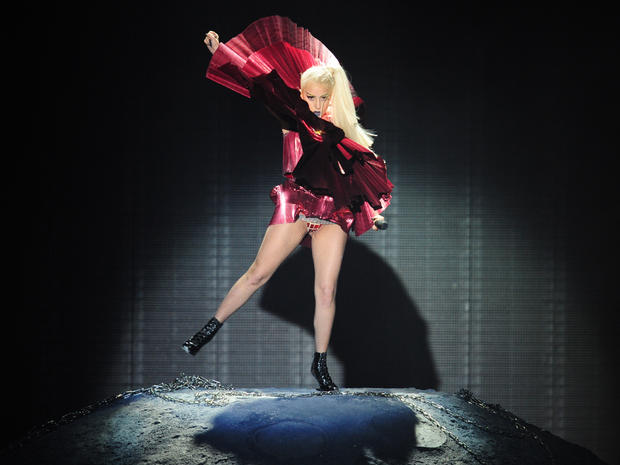 Lady Gaga performs at the MTV European Music Awards