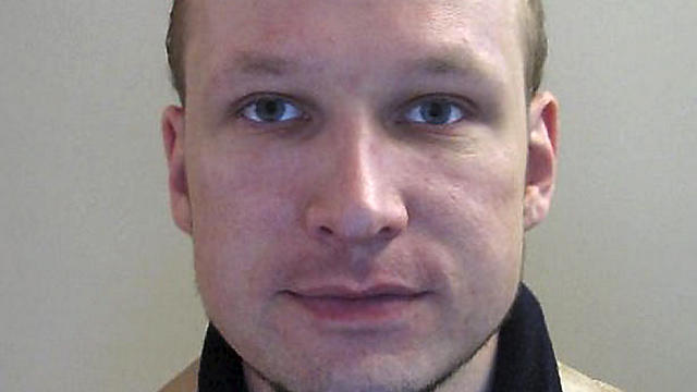 Portrait of Norwegian killer Anders Behring Breivik