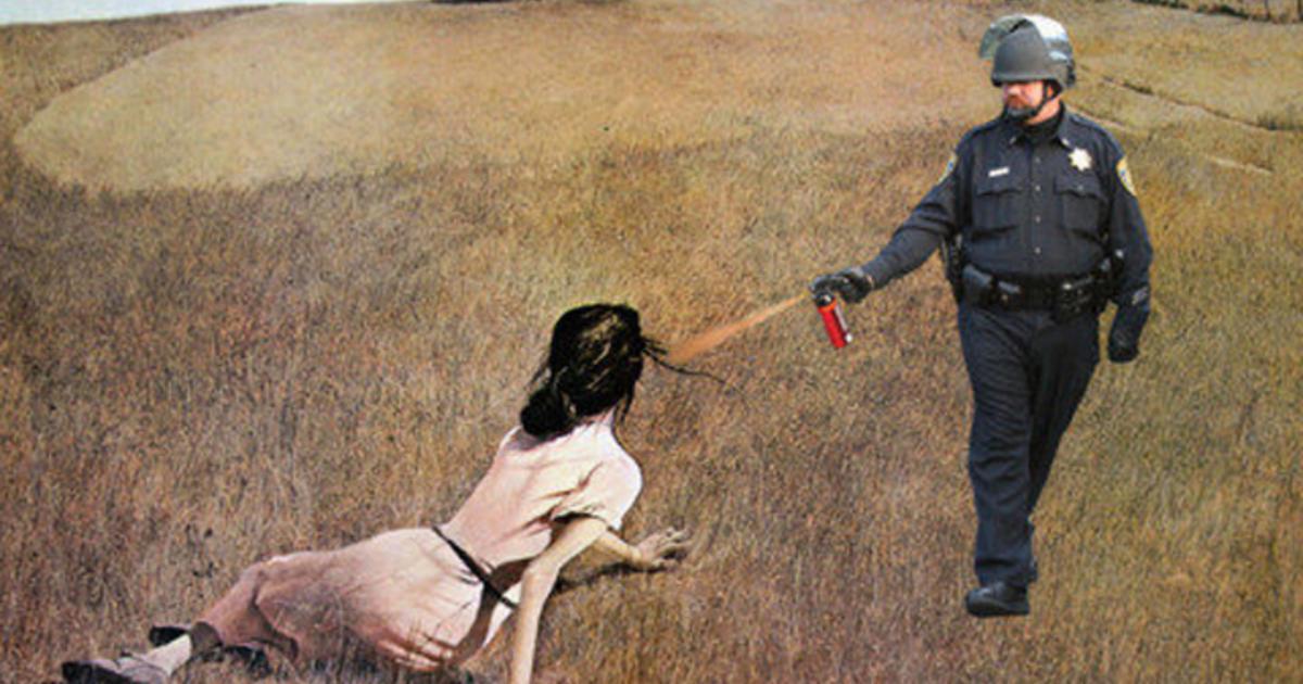 UCD pepper-spray video inspires viral art - CBS News