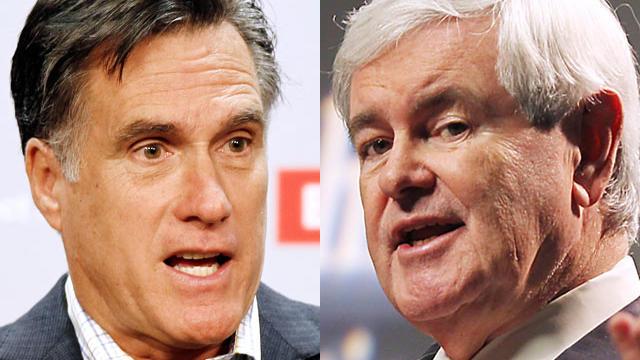 Mitt Romney and Newt Gingrich