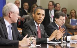 Barack Obama, Herman Van Rompuy, Jose Manuel Barroso