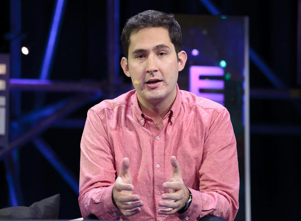 Instagram CEO Kevin Systrom speaking at LeWeb.