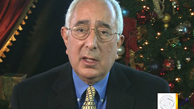 "Ben Stein giving his thoughts on Christmas on ""The Early Show"" on Dec. 23, 2011"