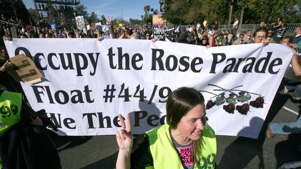 """Rose Bowl parade """"occupied"""""""