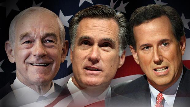 Fullwidth - 2012 - lowa Elections Mitt Romney Ron Paul Rick Santorum