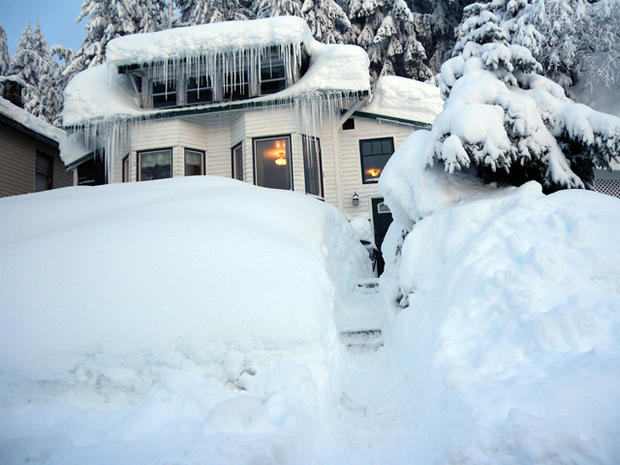 snow storm in alaska, 4x3