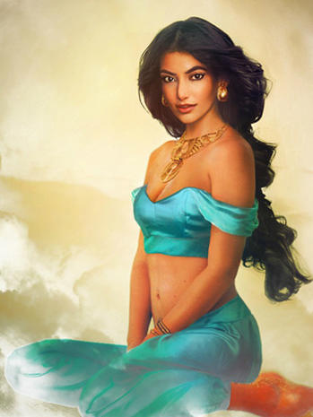 "Disney princesses envisioned in ""real life"""