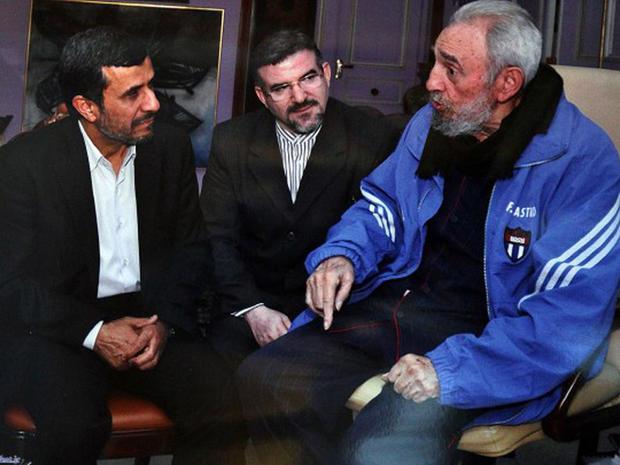 Fidel Castro with Mahmoud Ahmadinejad