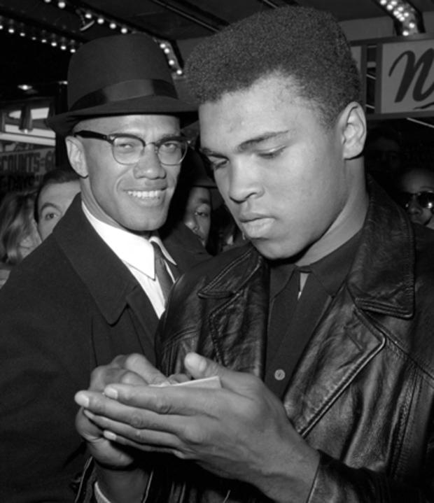 Muhammad Ali signs for Malcolm X