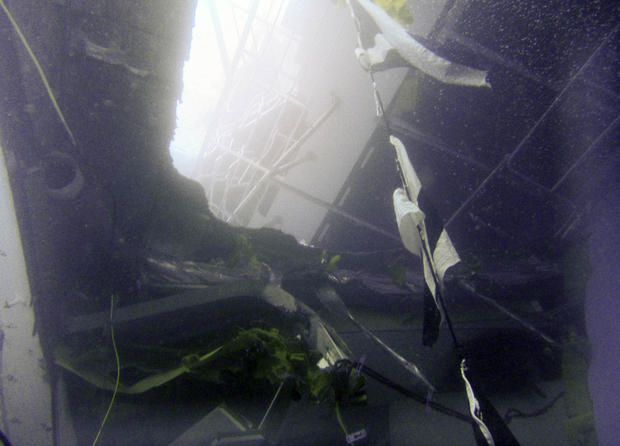 Inside the Costa Concordia wreck