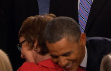 Obama greets Giffords with big hug