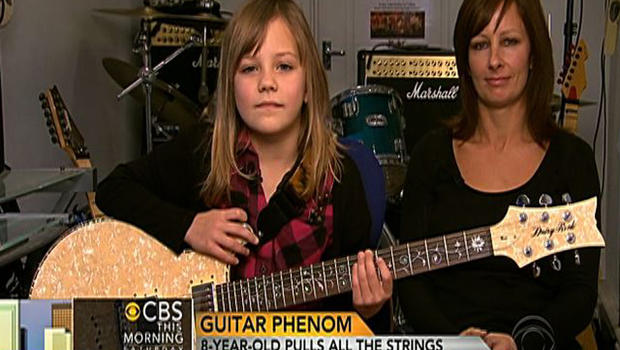 8-year-old guitar prodigy Zoe Thomason and her mother, Collette