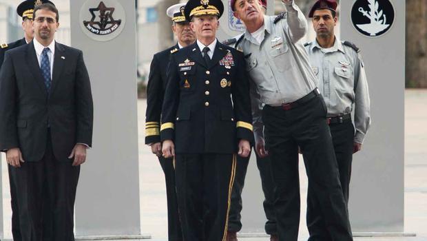 israel, military, army, Lt. Gen. Benny Gantz, U.S. Army Gen. Martin Dempsey