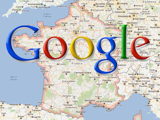 google maps, france