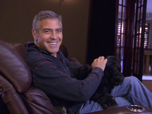 "George Clooney gives ""Person to Person"" a tour of his L.A. home"