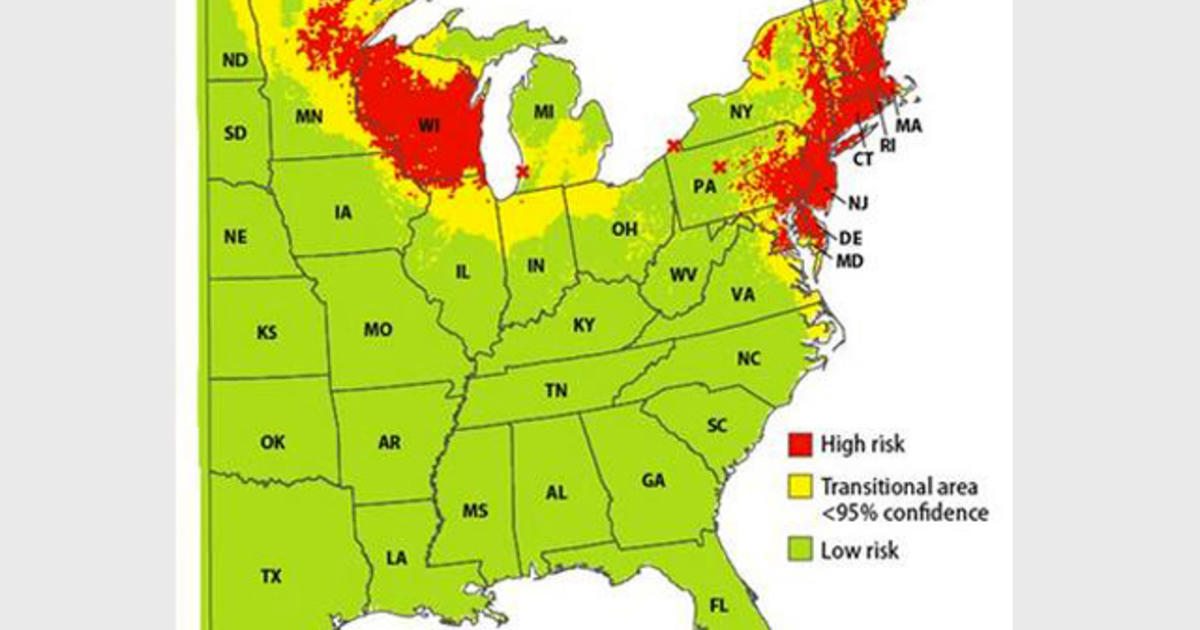 Lyme Disease Map Pinpoints High Risk Areas Do You Live In One Cbs News