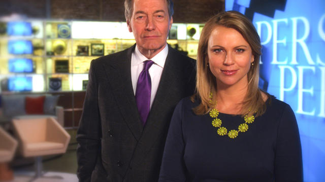 "CBS News ""Person to Person"" hosts Charlie Rose and Lara Logan"