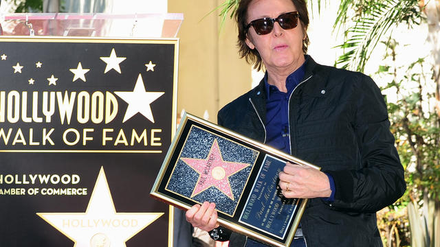 Sir Paul gets his star on the Walk of Fame
