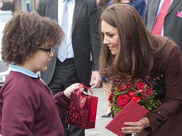 Duchess Kate on Valentine's Day visit to Liverpool