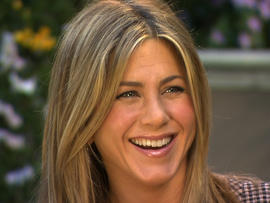 "Jennifer Aniston talking to Gayle King on ""CBS This Morning"" Feb. 27, 2012"