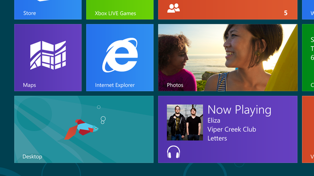 The desktop tile will take you to the desktop view of Windows 8. It's like Windows 7, but with a cooler secret identity.